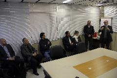 Eduardo Jardim explica à comitiva do Observatório sobre a importância da Celic para o Estado
